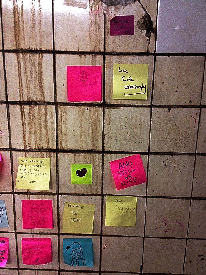 7 Train Post-its.
