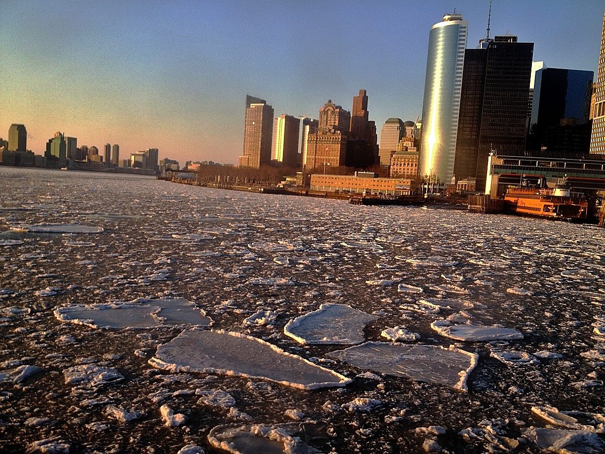 Ice Floes on the East River.